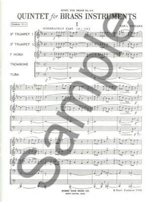 Zindars: Quintet: Brass Ensemble