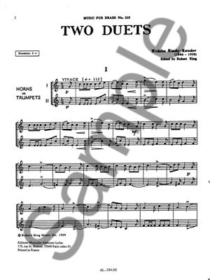Nikolai Rimsky-Korsakov: Duets(2): Trumpet Duet