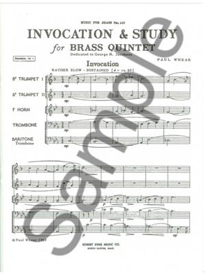 Whear: Invocation And Study: Brass Ensemble