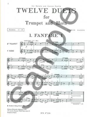 Andrew Kazdin: Twelve Duets For Horn And Trumpet: Horn