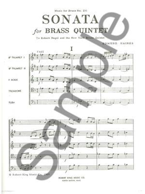Haines: Sonata: Brass Ensemble