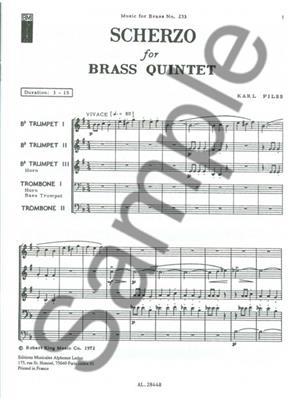 Pilss: Scherzo: Brass Ensemble