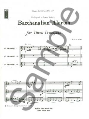 Paul Gay: Paul Gay: Bacchanalian Alarum: Trumpet Ensemble