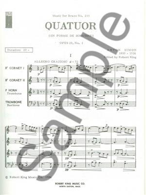 Simon: Quatuor Op21/N01: Brass Ensemble