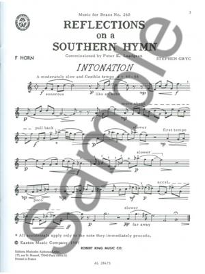 Gryc: Reflections On A Southern Hymn: Horn