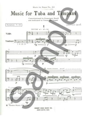 Stephen Gryc: Stephen Gryc: Music for Tuba & Timpani: Mixed Duet