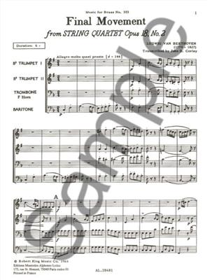 Ludwig van Beethoven: Final Movement Op18 N02: Brass Ensemble