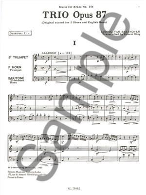 Ludwig van Beethoven: Trio Op87: Brass Ensemble