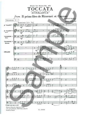 Aurelio Bonelli: Toccata Athalanta: Brass Ensemble