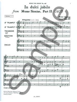Praetorius: In Dulci Jubilo: Brass Ensemble