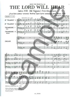 Marcello: Lord Will Hear: Brass Ensemble