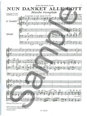 Sigfrid Karg-Elert: Sigfrid Karg-Elert: Nun danket alle Gott: Trumpet Ensemble