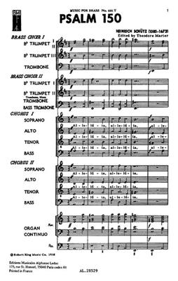 Heinrich Schütz: Psalm 150: Mixed Choir