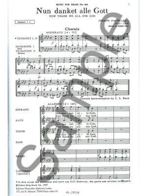 Pachelbel: Nun Danket Alle Gott: Brass Ensemble