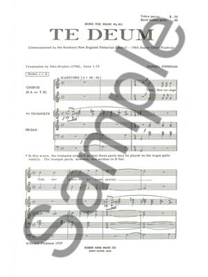 Pinkham: Te Deum: Brass Ensemble