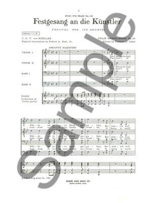 Felix Mendelssohn Bartholdy: Festgesang An Die Kunstler: Brass Ensemble