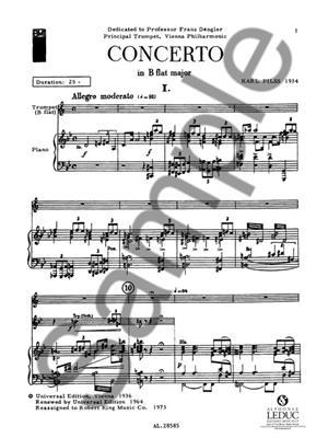 Pilss: Trumpet Concerto: Trumpet, Cornet or Flugelhorn