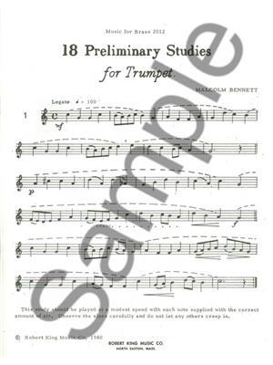 Bennett: 18 Preliminary Studies: Trumpet, Cornet or Flugelhorn