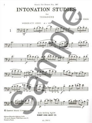 David Uber: Intonations studies: Trombone