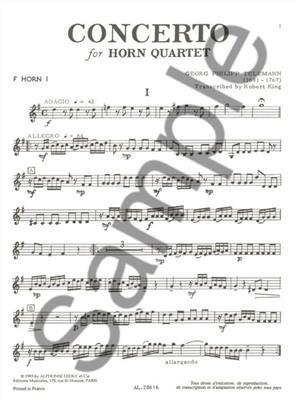 Georg Philipp Telemann: Georg Philipp Telemann: Concerto: Horn Ensemble