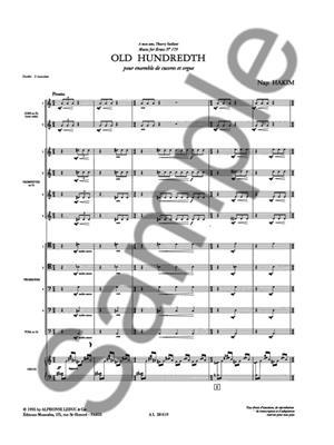 Naji Hakim: Old Hundredth (Brass Ensemble): Brass Ensemble