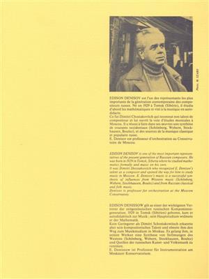 Edison Denisov: Edison Denisov: Quintette: Saxophone Ensemble