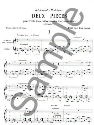 Philippe Rougeron: Philippe Rougeron: 2 Pieces: Flute & Guitar