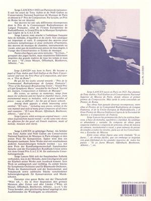 Serge Lancen:Si J'Etais -N010 Schubert/N011 Chopin-N012 Grieg