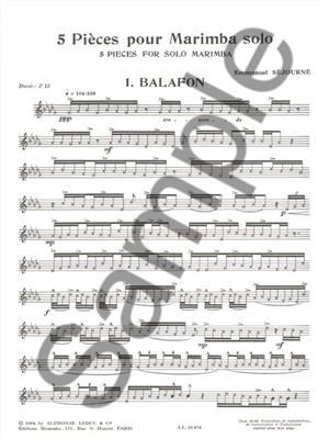 Sejourne: 5 Pieces: Marimba