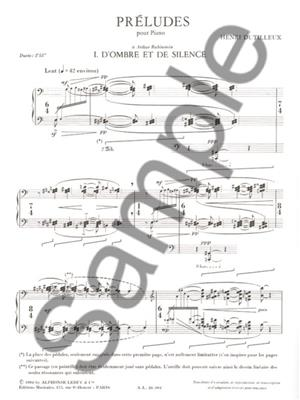 Henri Dutilleux: Three Preludes for Piano (1982): Piano or Keyboard