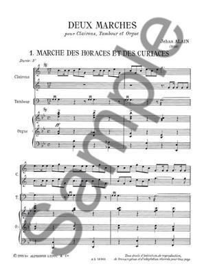 Jehan Alain: Jehan Ariste Alain: 2 Marches: Trumpet, Cornet or Flugelhorn