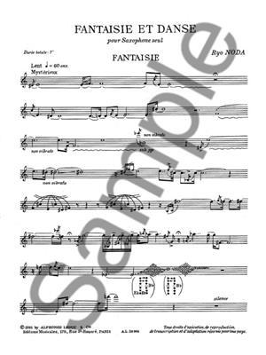 Ryo Noda: Ryo Noda: Fantaisie et Danse: Saxophone