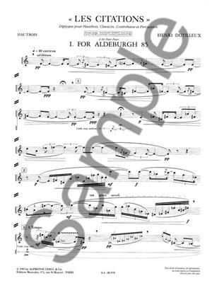 Henri Dutilleux: Henri Dutilleux: Les Citations, Diptyque: Brass Ensemble