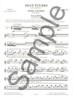 Christian Lauba: Neuf Etudes pour Saxophones: Alto Saxophone