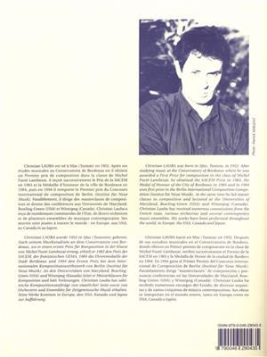 Christian Lauba: Nine Etudes (9) for Saxophones, Book 2: Saxophone