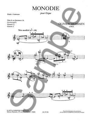 Olivier Messiaen: Monodie: Organ