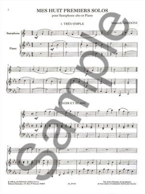Armando Ghidoni: Mes Huit Premiers Solos: Saxophone