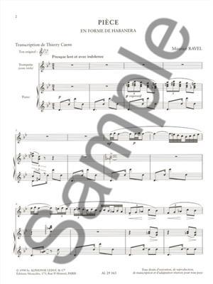 Maurice Ravel: Piece En Forme De Habanera: Trumpet, Cornet or Flugelhorn