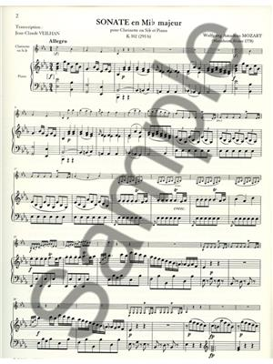 Wolfgang Amadeus Mozart: Sonate: Clarinet