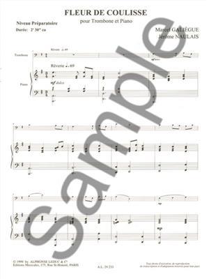 Galiegue: Fleur De Coulisse: Trombone