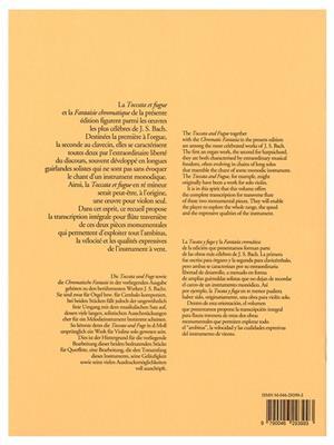 Toccata And Fugue BWV 565 Chromatic Fantasy 903: Flute