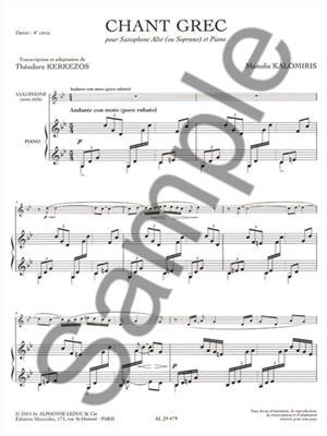 Kalomiris: Chant Grec: Saxophone