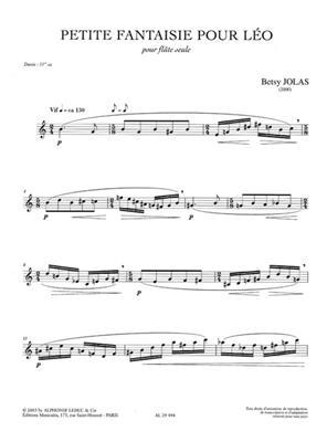 Betsy Jolas: Petite Fantaisie Pour Léo: Flute
