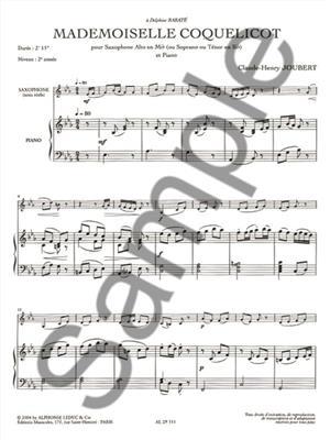 Joubert: Mademoiselle Coquelicot: Saxophone