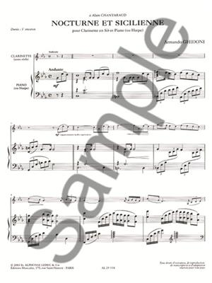Armando Ghidoni: Nocturne Et Sicilienne: Clarinet