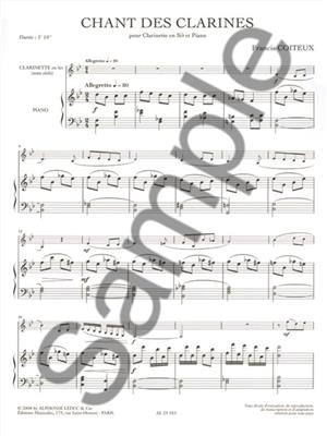 Coiteux: Chant Des Clarines: Clarinet