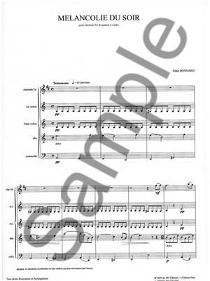 Alain Bonnard: Alain Bonnard: Melancolie du Soir: String Ensemble