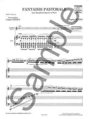 Eugène Bozza: Fantaisie Pastorale Op37: Saxophone