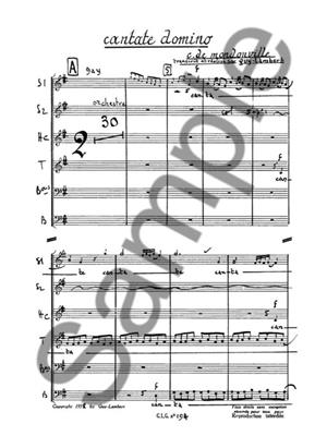 Jean-Joseph Mondonville: Cantate Domino: Mixed Choir