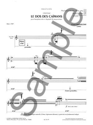 Barthelemy: Dos Des Caimans: Saxophone